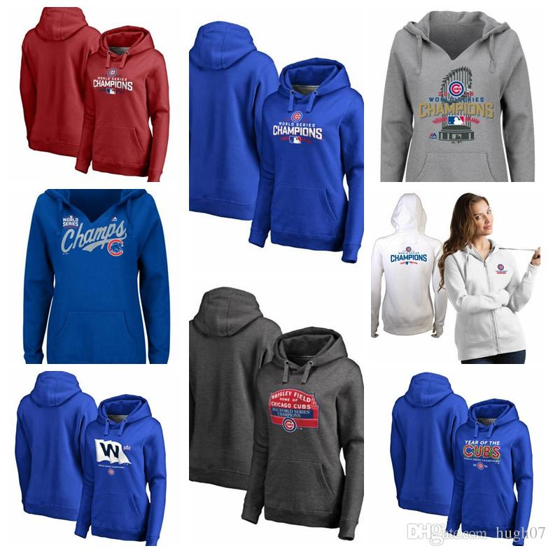 check out ab35b a0472 Chicago Cubs Women's Plus Sizes 2016 World Series Champions Win Flag Year  of the Cubs Sign Win Pullover Hoodie