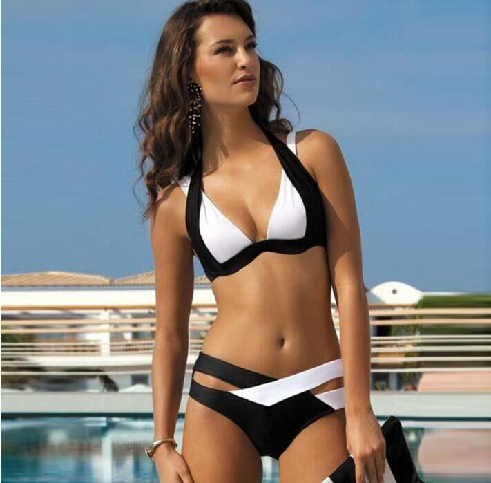 9b78b9528b2 2019 2019 New Styles Bikini Set Women Ladies Sexy Black And White Swimwear  Suit For Women Bandage Biquinis Bathing Suit S Xl From Txjc0002, $5.22 |  DHgate.