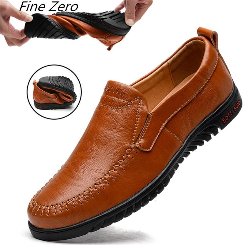 22881dd758dc6a Spring Summer Boat Shoes Vintage Mens Casual Shoes Loafers Genuine Leather  Handmade Comfortable Driving Breathable Formal Shoes For Men Work Shoes  From ...