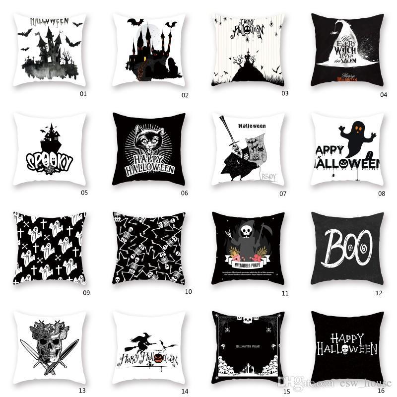 Halloween Pillow Case Ghost Pillow Cover Linen Throw Creative Series Home Decor Home Décor Home Décor Pillows