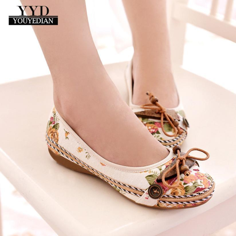 5004a579d Shoes Youyedian Fashion Nude With Vintage Famous Embroidery Leisure Women  Embroidered Femme Plateforme  a25 Boat Shoes Shoes For Men From Deal1