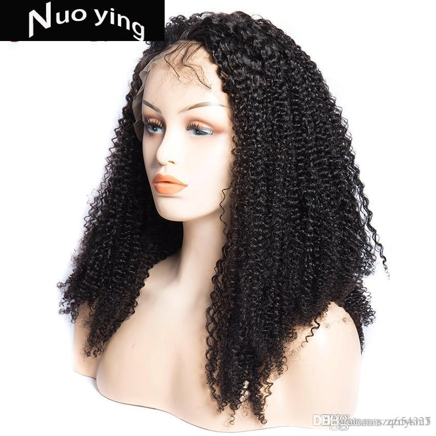 150 Density Brazil Kinky Curly Lace Front Wig 8-24Inch Pre Plucked With Baby Hair Peruvian Human Hair For Black Women Mi Lisa Wigs
