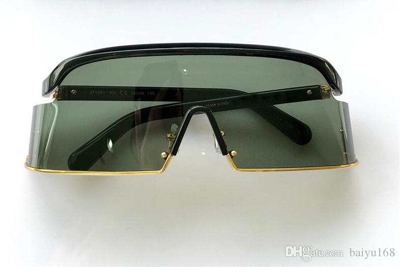 8f17c57264 Cool Gold/Black Oversized Sunglasses 1158 Unisex Luxury Designer Sun ...