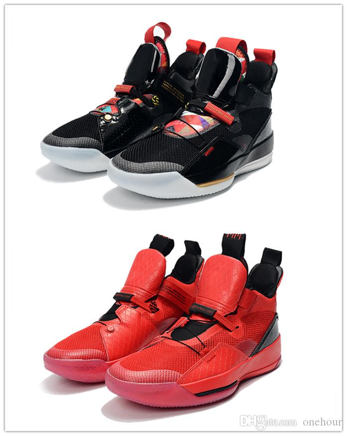 6cd6a1a731fa86 2019 Chinese New Year 33 Men Basketball Shoe Black Red Fashion 33s University  Red Black Sail White Designer Fashion Mens Athletic Sneaker Basket Ball  Shoes ...