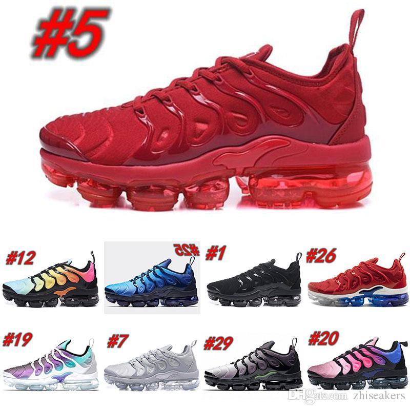 newest 1de72 cd410 Acheter Nike Air Tn Plus 2018 Marque Mode Designer De Luxe Hommes Chaussures  De Course Pour Les Baskets Hommes Nouvelle Arrivée Baskets Chaussures ...