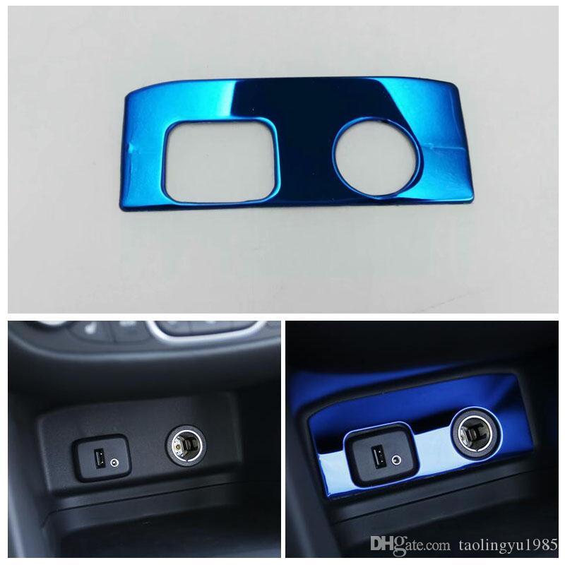 Blue Stainless Cigarette Lighter Panel Cover Trim For Chevrolet Holden  Equinox 2018