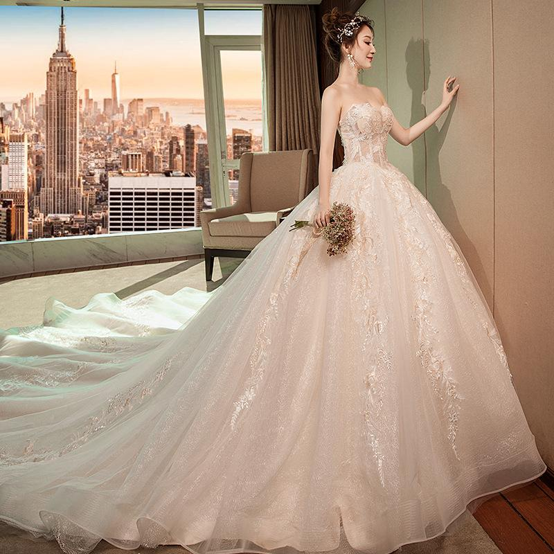 34c00801d0 Wedding Garment 2019 New Wind Princess Dream Brassiere Simple Bride Winter  Long Tail Luxury Chinese Style Formal Dresses Dresses From Weddingwing