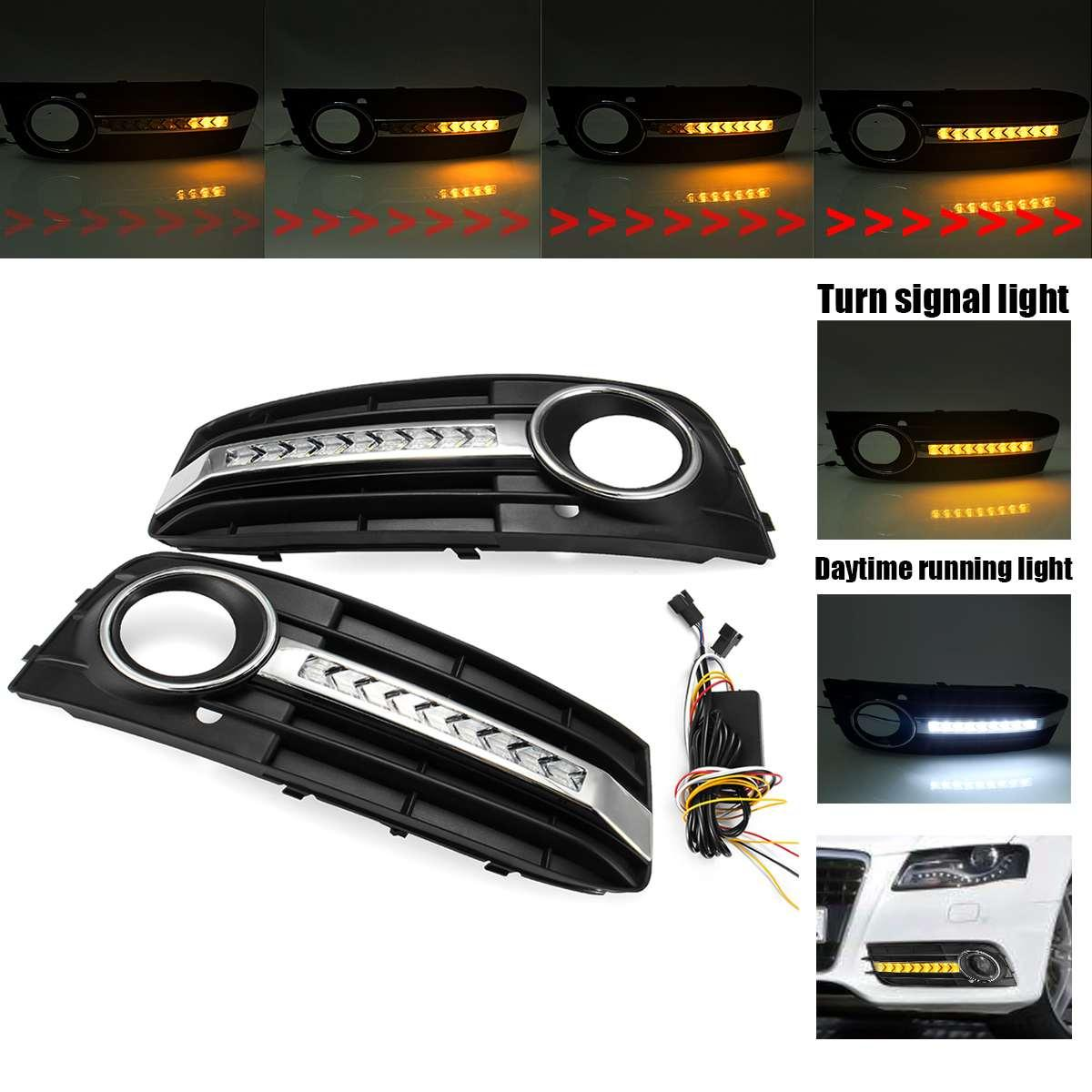 2019 New Car Fog Light Cover Grille Grill With Flowing Led Turn