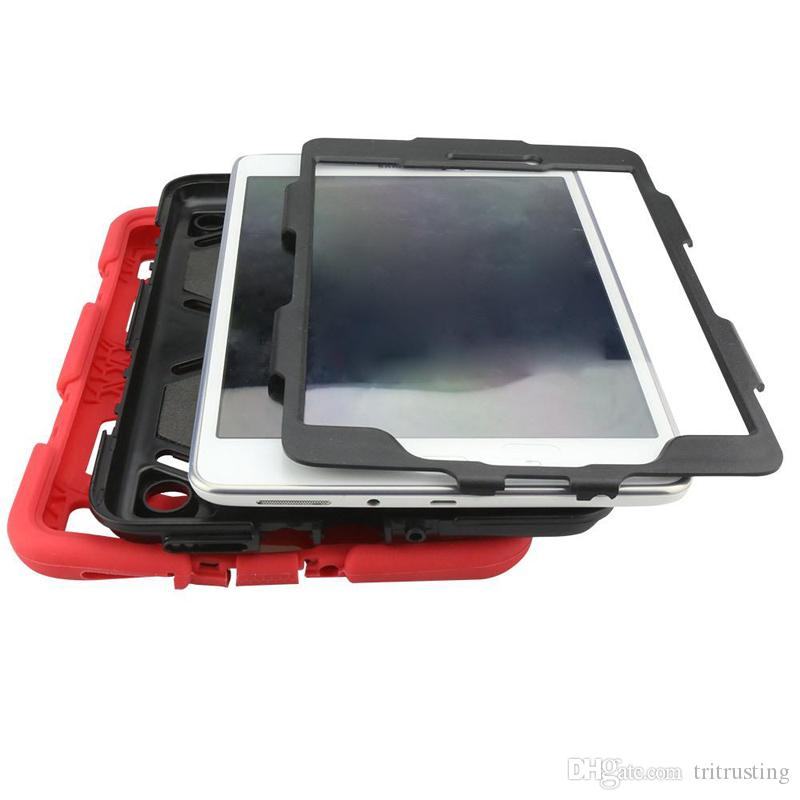 Military Extreme 3 in 1 Robot Hybrid Heavy Duty Shockproof protective case Computer tablet Case For ipad air ipad 2 3 4 ipad mini MQ100