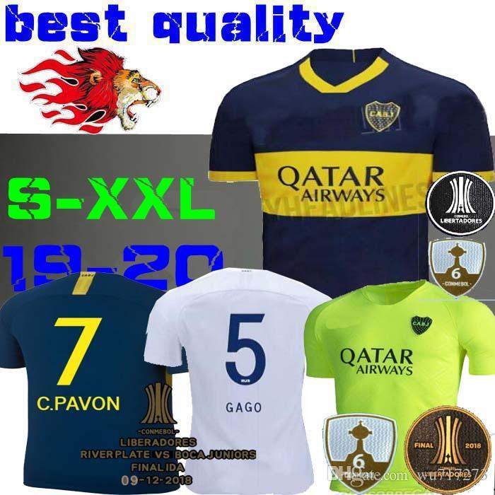 finest selection 37031 65b97 2019 Boca Juniors Soccer Jerseys PAVON BENEDETTO CARDONA TEVEZ HOME JERSEY  AWAY Finals liberator Maradona Silver green third ABILA 19 20