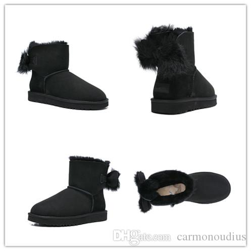 43f60ca1053 Winter Classic Short Mini Snow Boots Brand Women Popular Australia Genuine  Leather Boots Fashion Women'S Snow Boots 14 Thigh High Boots Booties From  ...