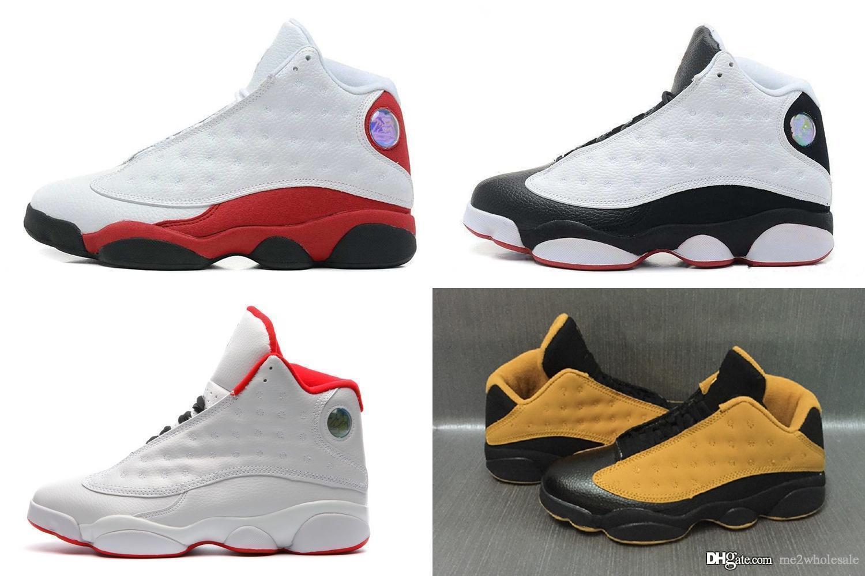 magasin en ligne 06f1f d957d Nike Air Jordan Retro 13 13s 11 11s nuevos 13s Classic 13 bred zapatos para  hombre de oliva HOF DMP gato negro que tiene juego hiper real barones ...