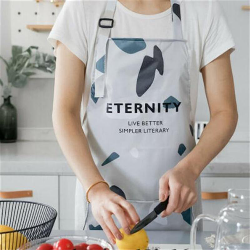 Kitchen Aprons With Front Pocket Adjustable Cooking Baking Cute Bib Dress Kitchen Restaurant Chef Cooking Waterproof Cute Bib