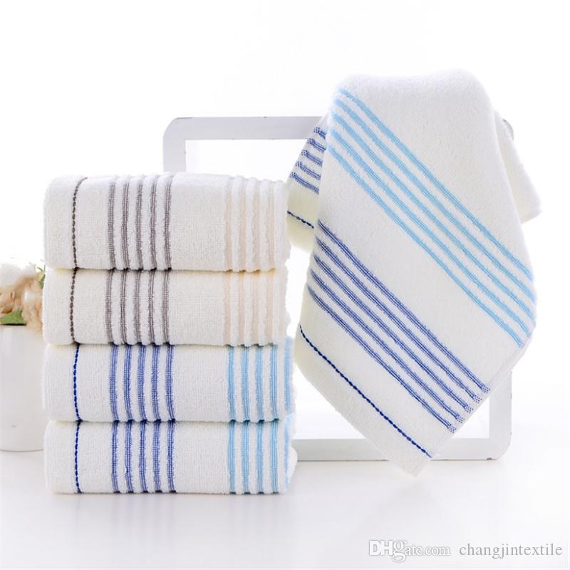 Factory direct cotton color strip wash towel soft absorbent gift can be customized embroidery