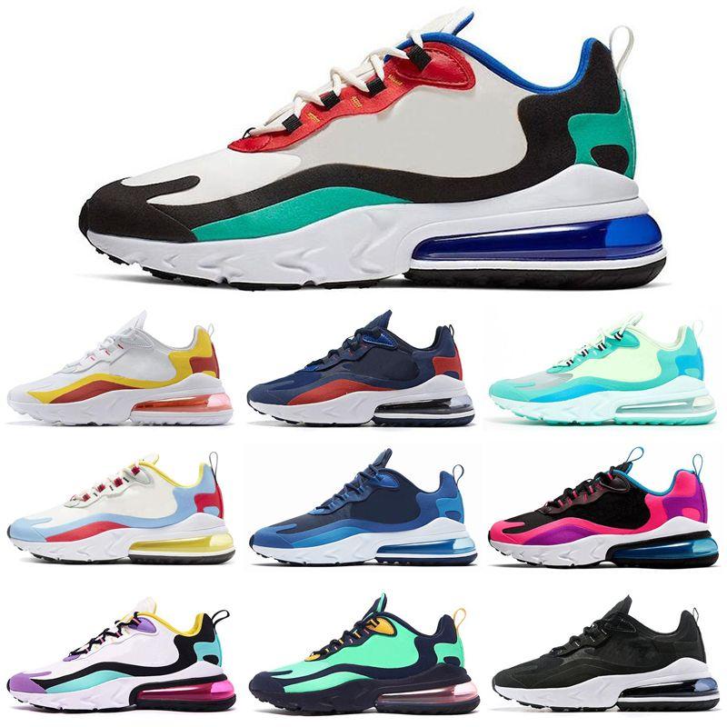 Nike Air Max 270 React React Femmes Hommes Chaussures De Course BAUHAUS HYPER JADE Rose BLEU VOID Mode Hommes Baskets De Sport Sneakers 36 45
