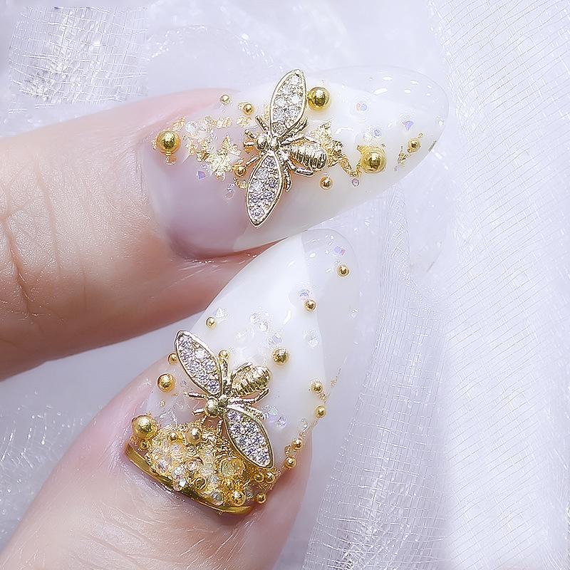 2018 Real Japan 3d Gold Bee Nail Art Decorations Diy Glitter Rhinestones  Alloy Studs For Jewelry Accessoires - 2018 Real Japan 3d Gold Bee Nail Art Decorations Diy Glitter