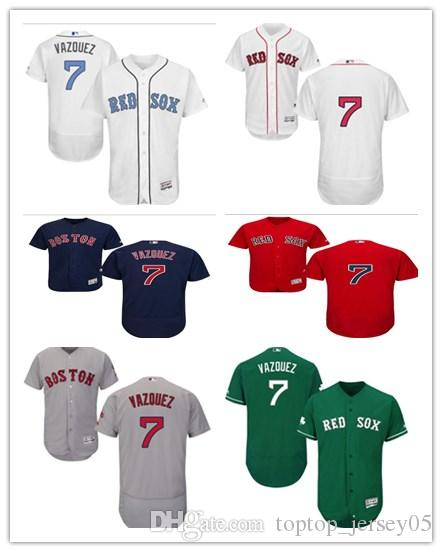 2019 2018 Can Boston Red Sox Jerseys  7 Christian Vazquez Jerseys  Men WOMEN YOUTH Men S Baseball Jersey Majestic Stitched Professional  Sportswear From ... 26d078bba6c