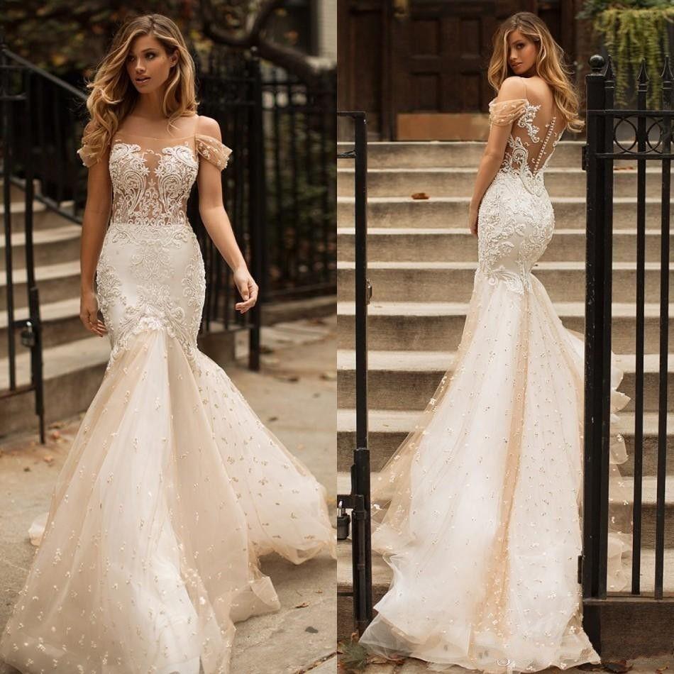 fdfbb704d2e35 Dubai Arabic Designer Milla Nova Vintage Plus Size Bohemian Lace Mermaid  Trumpet Wedding Dresses Bridal Gowns 2019 Vestido De Novia Sweetheart  Neckline ...