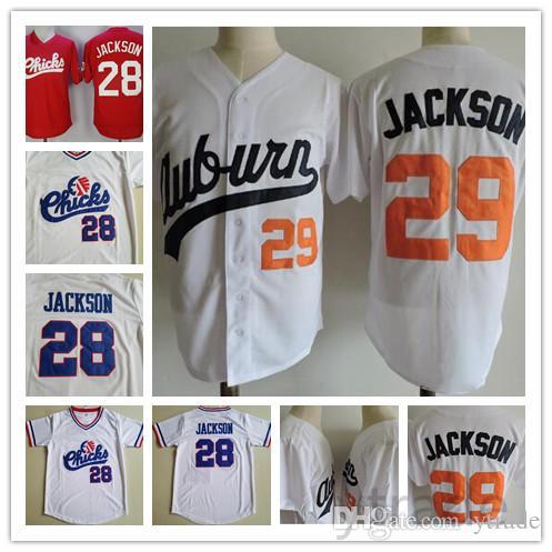 64b41c854 2019 Mens Vintage Auburn Tigers 29 Bo Jackson College Baseball Jersey White  1986 Retro Memphis Chicks Bo Jackson University Stitched Shirts From  Ytrade, ...