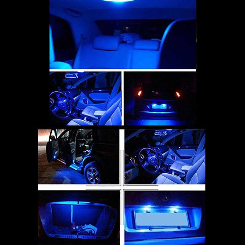 2019 11x Blue Canbus Dome Footwell Trunk Lighting Bulb Led Car