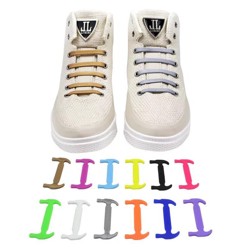 08e5c38a51 Compre 16 Pçs / Set Laços De Silicone Elástico Para Sapatos Cadarço  Especial Sem Gravata Cadarços De Sapato Para As Mulheres Homens Lacing  Sapatos De ...