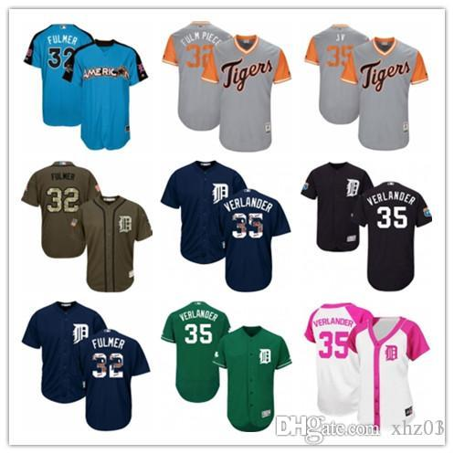 e1684cb14 2019 Custom Men'S Women'S Youth Majestic Tigers Jersey 35 Justin ...
