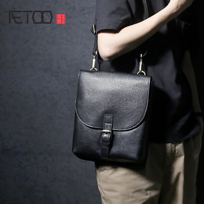 8bb6eca08bed AETOO Handmade Leather Single Shoulder Bag Male Leather Business ...