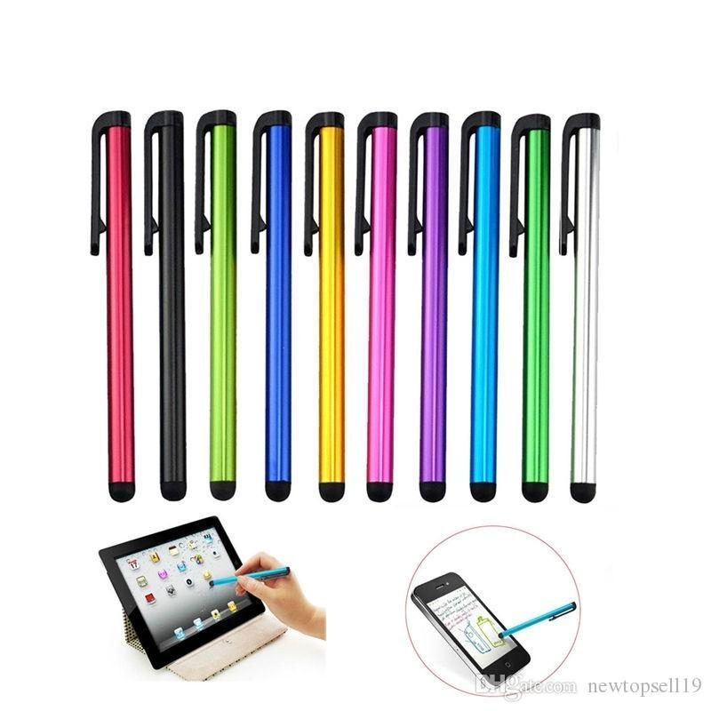 Factory price E418 10pcs Capacitive Touch Screen Stylus Pen For IPad Mini 2  3 4 For iPhone 4s 5 6 7 Samsung Universal Tablet PC Smart Phone