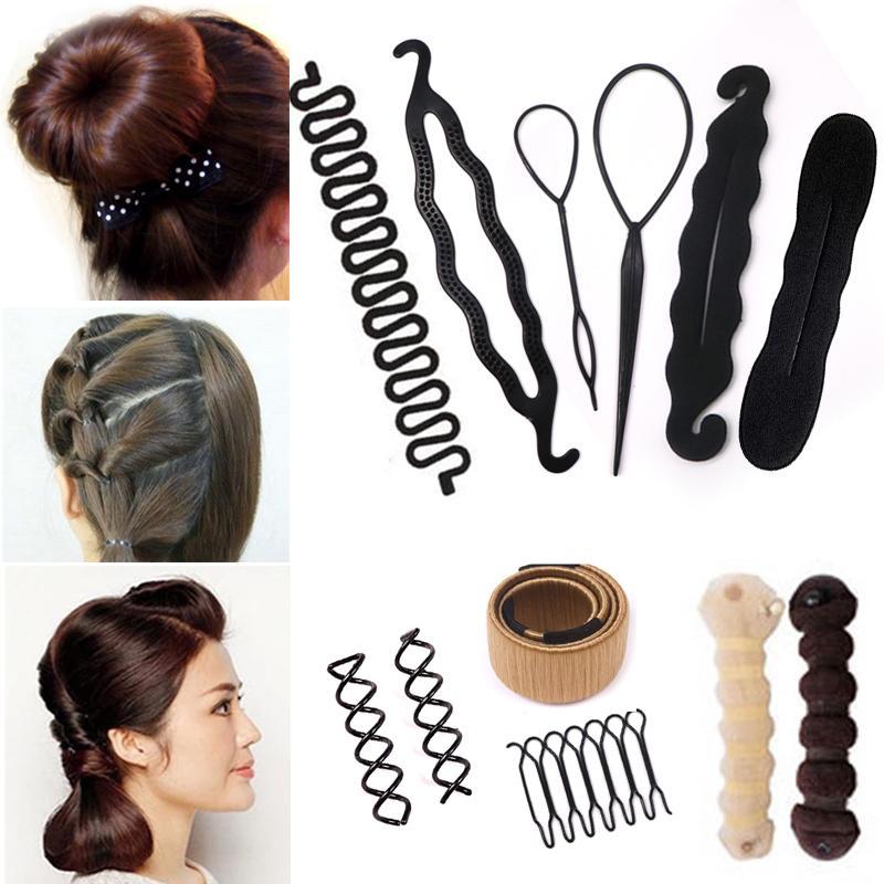 41aae641 Accesorios para el peinado del cabello mágico trenzado del cabello rizador  accesorios accesorios disco para mujeres damas niñas diy tire pins