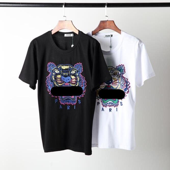 46d5d23505fc Hot Sale Cheap Men Women T-Shirts Classic Logo Print Summer Tees Unisex  Jogging Tops Color:Black,White Material:Cotton Size:S,M,L,XL,XXL.