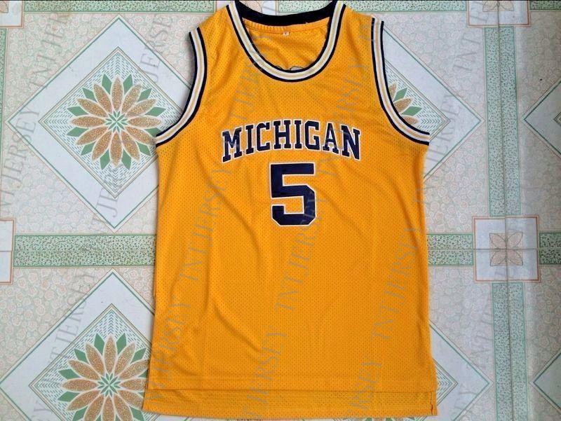 67e8b1a2906 2019 Cheap Custom Vintage Jalen Rose Michigan #5 Yellow Jersey Stitched Customize  Any Number Name MEN WOMEN YOUTH XS 5XL From Tntjersey, $39.6 | DHgate.Com