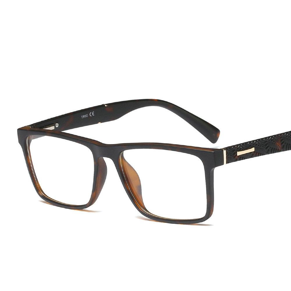 0ce39570f29 2019 Square Tr90 Eyeglasses Optical Frame Men Clear Lens Prescription  Glasses Leopard Eyewear Women Spectacle Frames For Men FML From Rivelchang