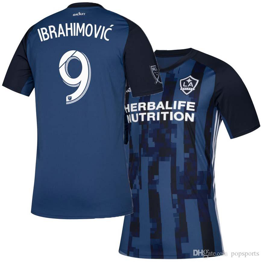 low priced be4a4 40132 MLS 2019 20 Los Angeles Galaxy away Soccer Jersey LA GALAXY away blue  football Shirt IBRAHIMOVIC top uniform maillot de foot LLEGET BECKHAM