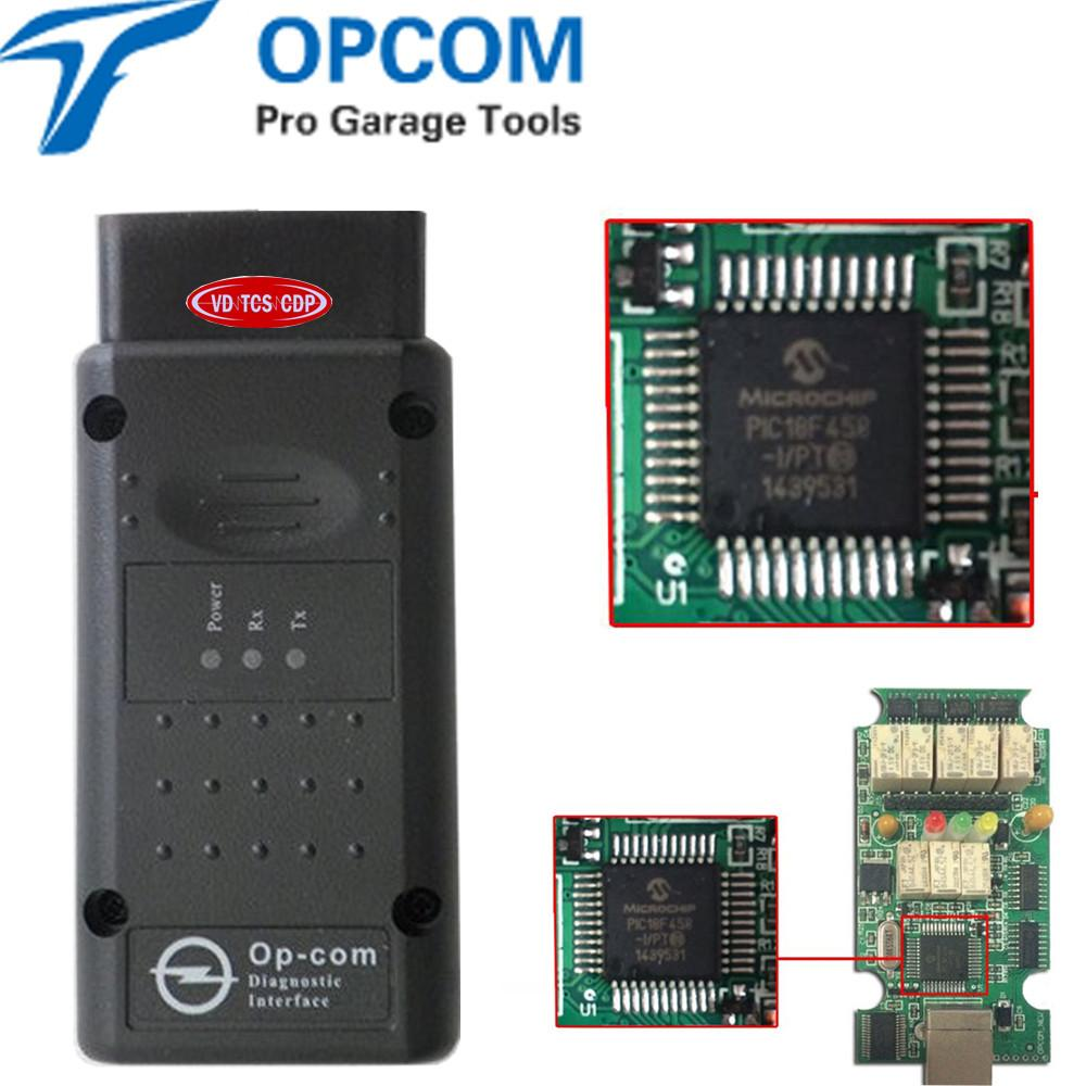 OPCOM with PIC18F458 chip V1 70 Professional diagnostic-tool V2014 OP-COM  Support flash Auto Scanner for OPEL free shipping