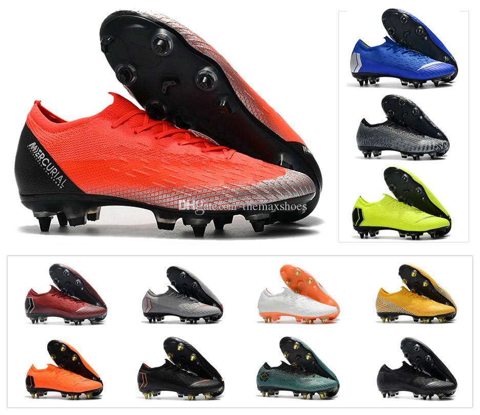 d4d5208420d 2019 Mercurial VaporX Fury XII VII VI Elite SG AC 6 7 12 Ronaldo Always  Forward 6 CR7 NJR Neymar Mens Soccer Shoes Football Boots Size US6.5 US11  From ...