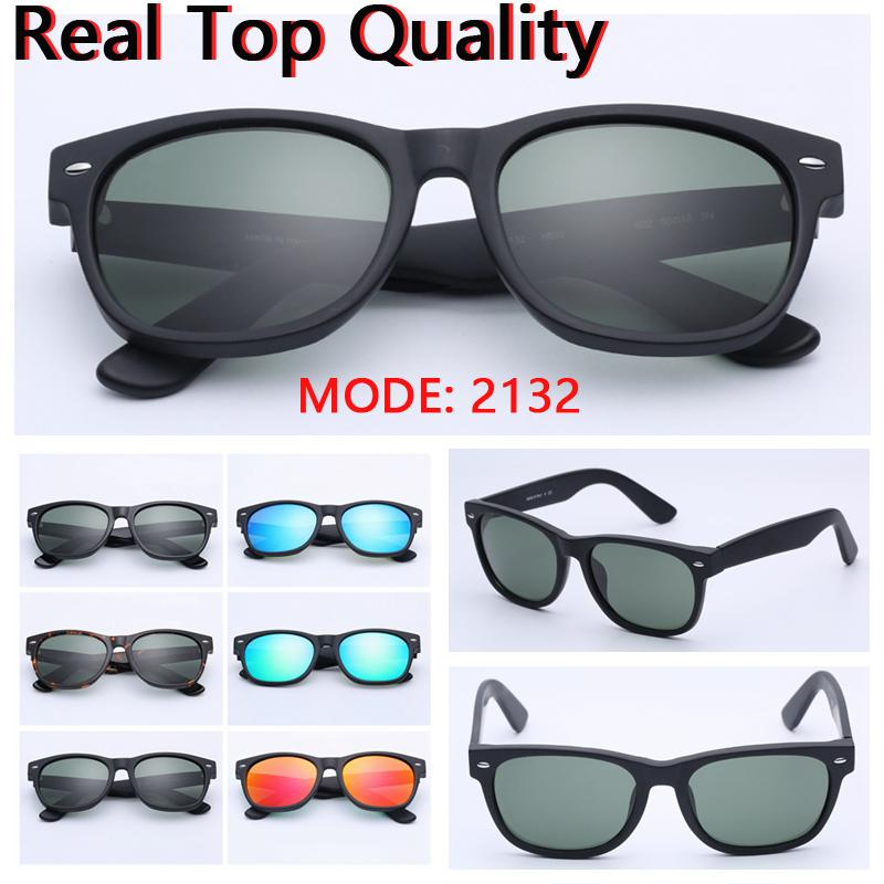 e2c66140acf Mens Sunglasses New 2132 Top Quality Real Glass Lenses Sun Glasses ...