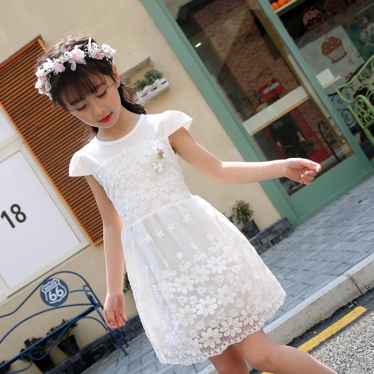3bf971d501c Summer Flower Girls Dresses 2019 New O Neck Cotton Kids Princess Evening  Dress For Baby Girl Sweet Lace Children Clothing 6ds394 UK 2019 From  Nextbest04