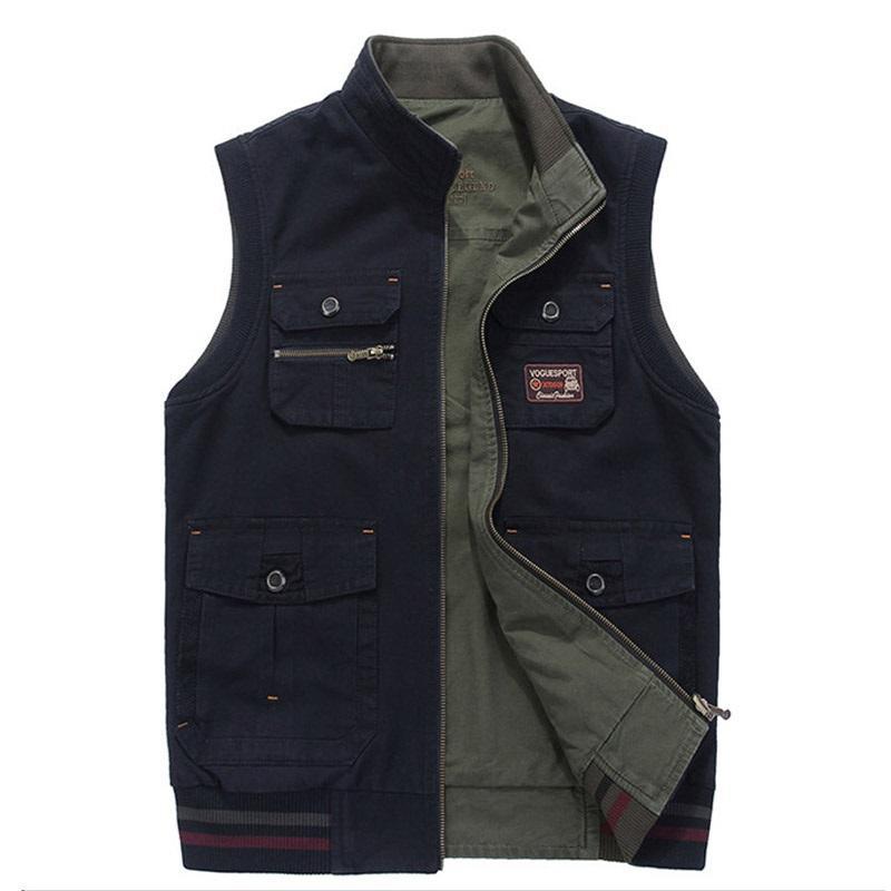 buy online b67a5 70e21 Männer Kleidung Weste Armee Taktische Viele Taschen Weste Sleeveless Jacke  Plus Größe 6XL 7XL 8XL 9XL großen Männlichen Reise mantel