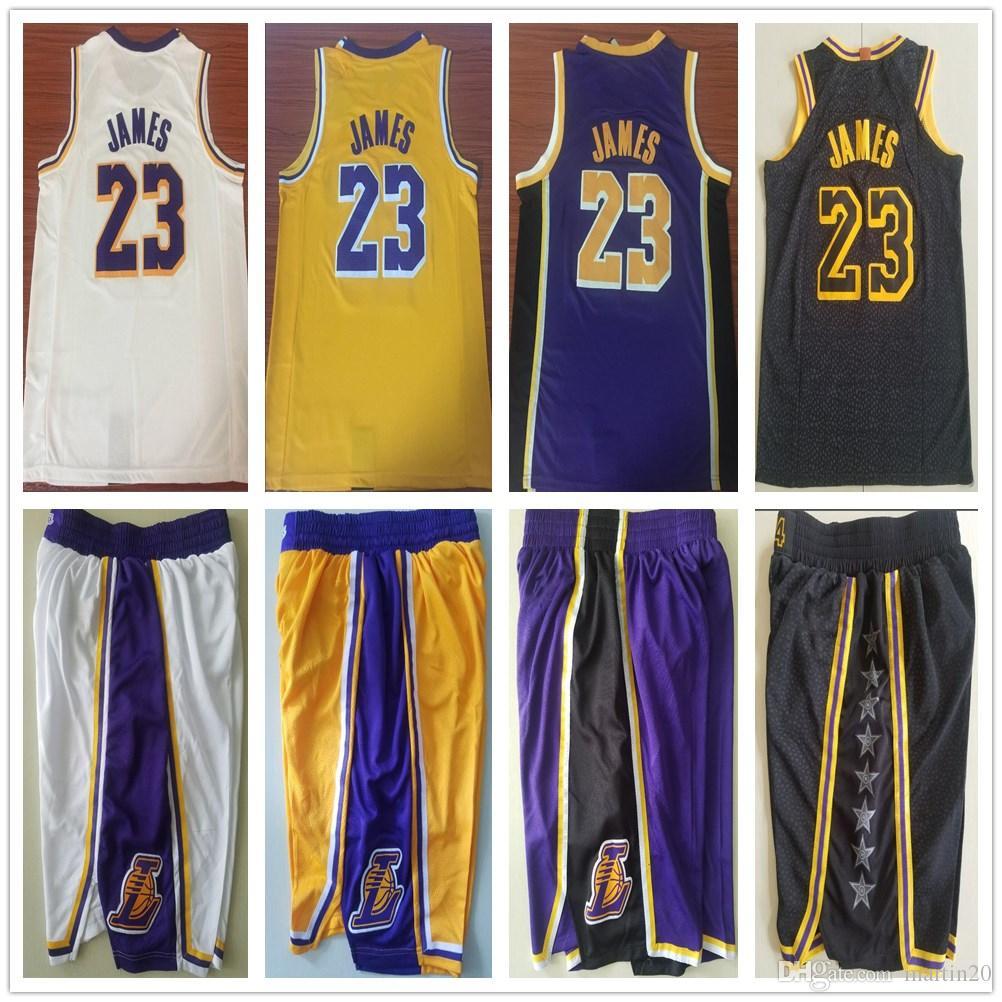 Men Youth Kids 23 LeBron James Jersey New Yellow Purple White Color ... 95e894a1fe52