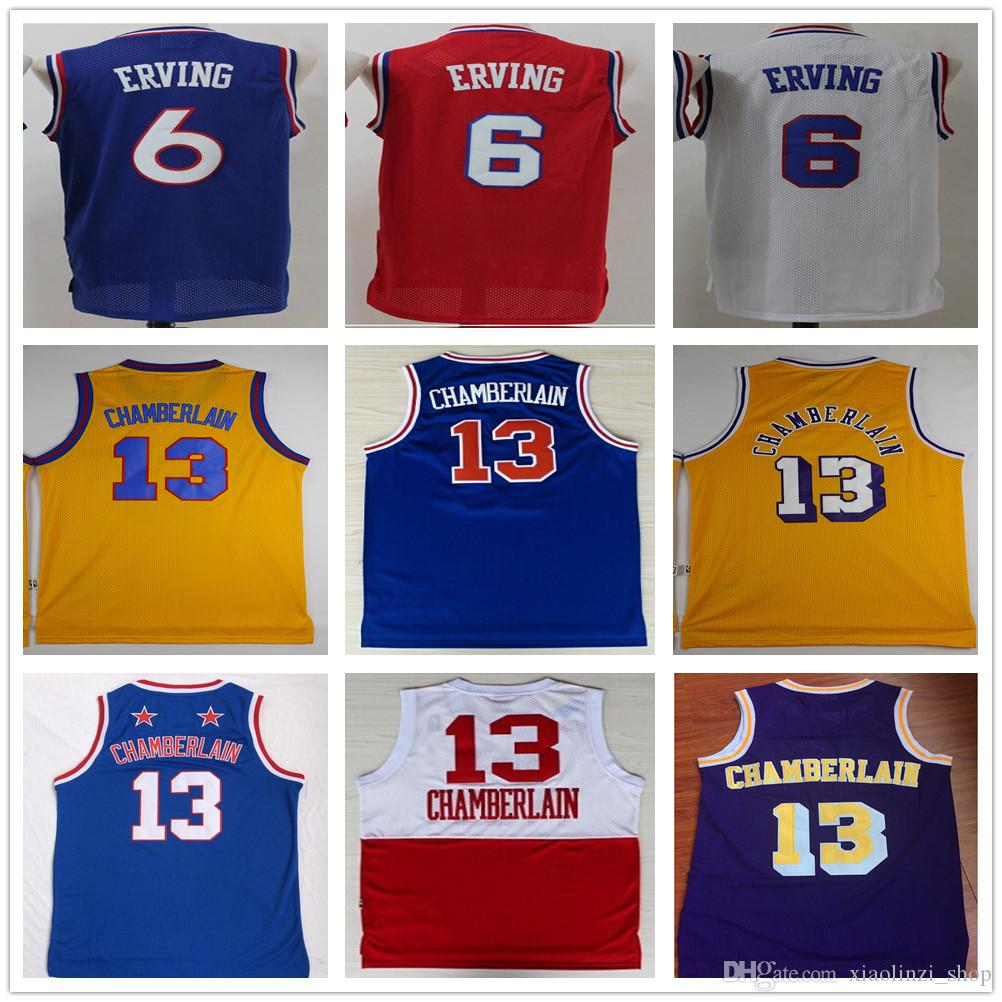1178e62d6d7 ... canada 2019 high quality 6 dr j julius erving sportswear jerseys retro  blue red white 13