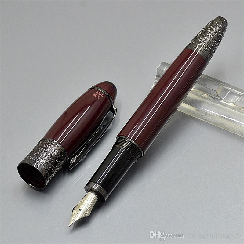 Top quality MB Daniel Defoe metal Fountain pen fine office stationery luxury 4810 nib calligraphy ink pens Gift ( No Box )