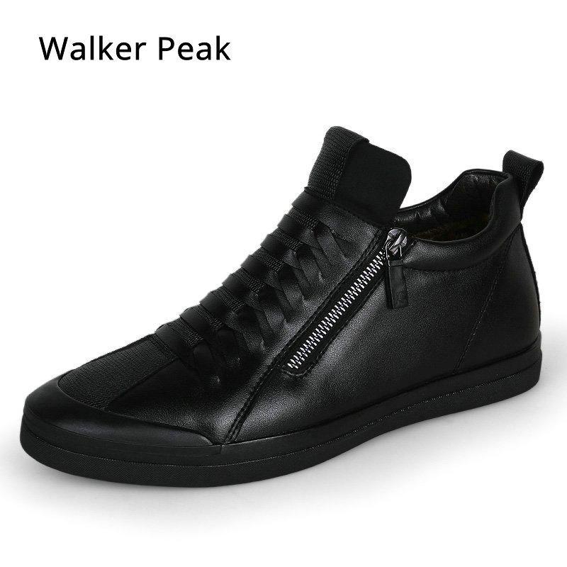 30845445d Compre Calzado Para Hombre Diseñador De Moda Casual Zapatos De Cuero  Genuino Para Hombres Zapatillas Sin Cordones Zapatillas Negras Otoño Invierno  Zapatos ...