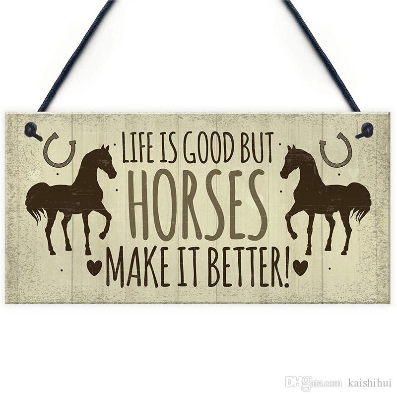Horse Door Signs And Plaques Horses Make It Better Country Style Accessory Gift Sign For Horse Lovers