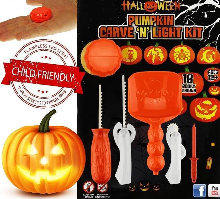 Tofoco funny halloween pumpkin carving tool toys for kids