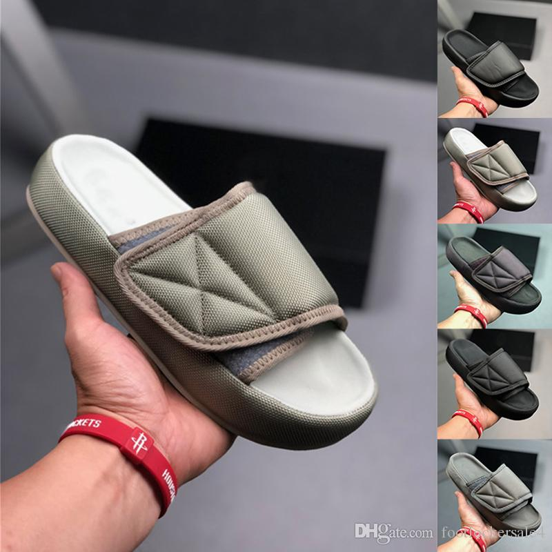 Plage Designer 2019 Pantoufles Hommes En Flop Noir De Luxe D Kanye Blanc Chaussures Air Femmes Plein Flip Casual Gris Sandales West Été Glisse fyIvY7gb6