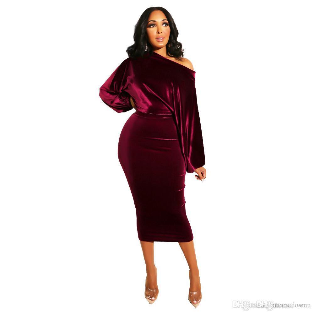 610b4d655b Plus Size Long Sleeve Vestidos Slim Gold Velvet Hip Bandage Bodycon ...