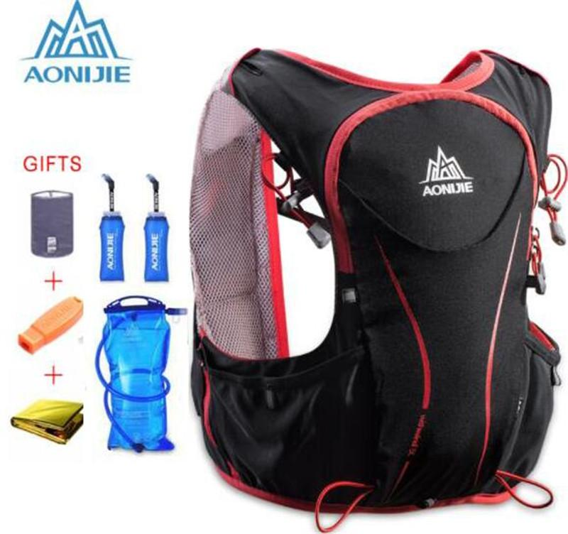 e3ee4b0190 2019 AONIJIE 5L Outdoor Sports Backpack Women Men Marathon Hydration Vest  Pack For Exchange Cycling Hiking Running For 1.5L Water Bag From Ranshu, ...