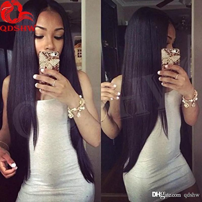 360 Full Lace Human Hair Wigs For Black Women Straight Glueless Pre Plucked Glueless 360 Lace Front Human Hair Wig Brazilian Virgin