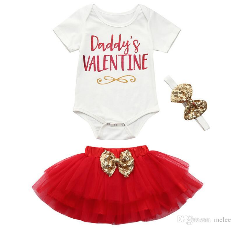 d491f8d5b55e 2019 Valentine S Day Outfit DADDY S Valentine Newborn Baby Girl ...