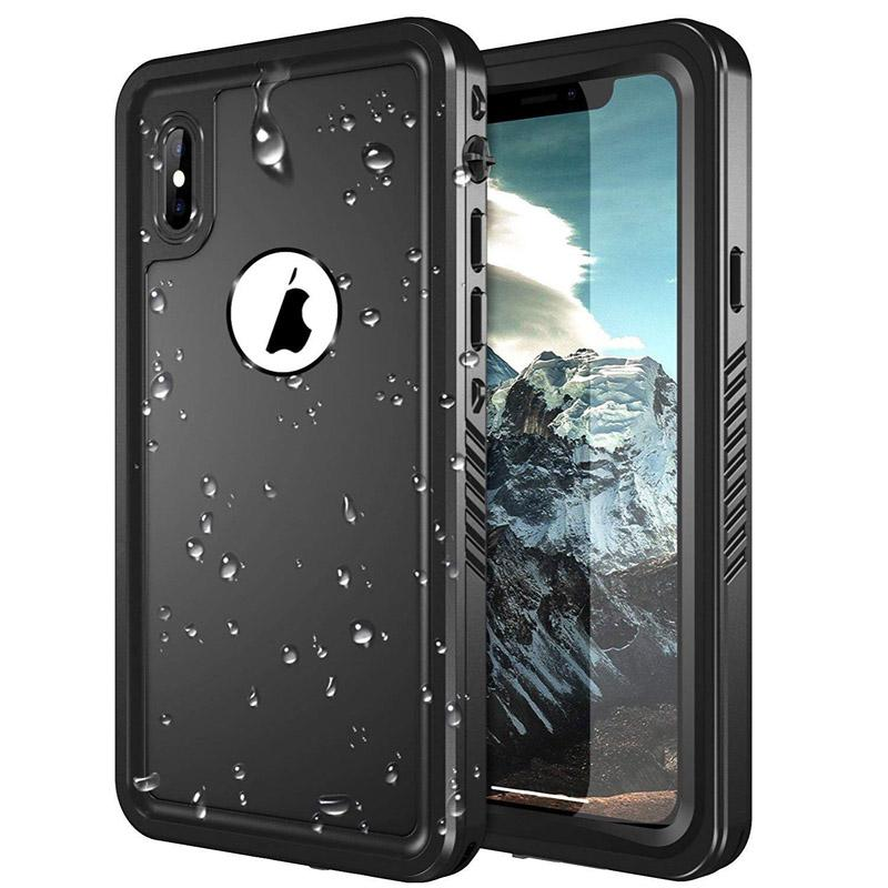 on sale 602ac 7d8c2 For Apple iPhone X XR XS Max Waterproof Full-body Rugged Case Underwater  Military Grade Shockproof Screen Protector